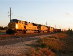 UP 8046  3Nov2011  Early Morning Gen Merchandise SB approaching Center Point Road 